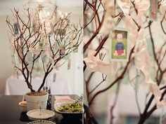 This centerpiece picture tree is too cute.