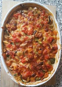 Healthy Summer Recipes, Quick Healthy Meals, Vegan Dinner Recipes, Healthy Chicken Recipes, Italian Recipes, Baked Pasta Recipes, Tomate Mozzarella, Diner Recipes, Oven Dishes