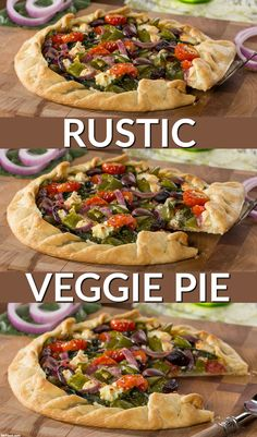 Opa!  You're going to celebrate all of the delicious Greek flavors in this Rustic Veggie Pie. It's loaded with tons of yummy Mediterranean veggies.