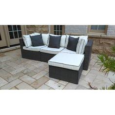 Burruss 4 Piece Sofa Set with Cushions