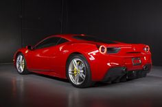 The Ferrari 488 GTB was unveiled at the 2015 Geneva Motor show and is currently in production. The car is an update for the Ferrari 458 with the 488 sharing some of the design an components. 488 Gtb, Ferrari 488, Geneva Motor Show, Amazing Cars, Fast Cars, Bugatti, Custom Cars, Dream Cars, Super Cars