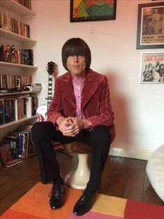 Velvet shadow striped jacket. Perfumed Garden Clothing shirt and Dandylife trousers worn by Peter Feely.