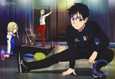 Yuri!!! on Ice (ユーリ!!! on ICE)Yuri!!! on Ice makes a poster debut in the November issue of Animedia Magazine (Amazon Japan | eBay), with both Yuris and Victor getting ready to train in art by key animator Mariko Kawamoto (川元まりこ).