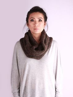 knit cowl Infinity Scarf  Loop Scarf oversized by VeBelle on Etsy