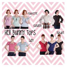 """""""Hell Bunny Tops"""" by bluebanana on Polyvore featuring Hell Bunny"""