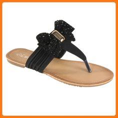 8f60d283c9a Lucita Women s Maey Bow Thong Sandals
