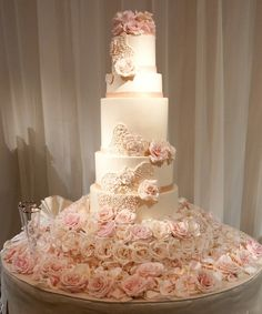 Featured Photographer: John Solano Photography; 26 Prettiest Pink Wedding Ideas to Get Inspired: http://www.modwedding.com/2014/10/09/26-prettiest-pink-wedding-ideas-get-inspired/ #wedding #weddings #wedding_cake Featured Photographer: John Solano Photography