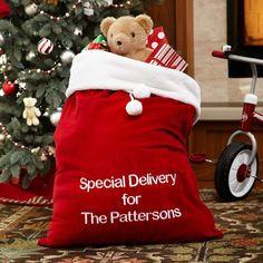 Plush Personalized Santa Bag