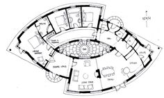 The drawings below represent a number of designs for some Sacred Geometry Homes - designed and hand drawn by Michael