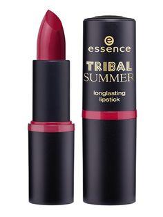 Essence tribal summer lipstick waka waka  http://www.essence.eu/it/prodotti/trend-editions/weiterleitung/tribal-summer.html