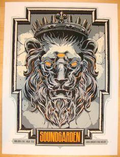 2012 Soundgarden - Milan Silkscreen Concert Poster by Ken Taylor