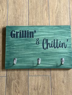 Enjoy BBQ season with the beautiful decor piece with your cooking tools at your finger tips! Order this DIY delivery project to make right at home! Tool Hangers, Tool Board, Grillin And Chillin, Outdoor Paint, Bbq Tools, Cooking Tools, Stencils, Finger, Delivery