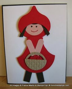 Stamp & Scrap with Frenchie: Little/Big Red Ridding Hood Punch Art