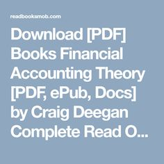 Download pdf books the mafia manager pdf epub by complete download pdf books financial accounting theory pdf epub docs by fandeluxe Choice Image