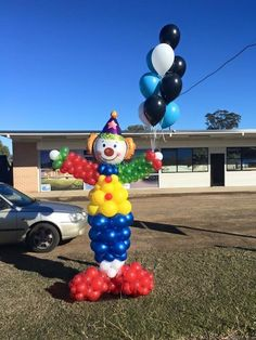 Clown Balloon Column