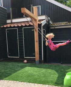 Kids Backyard Playground, Backyard Swings, Backyard For Kids, Backyard Projects, Backyard Patio, Garden Projects, Lake Garden, Kids Play Area, Modern Landscaping
