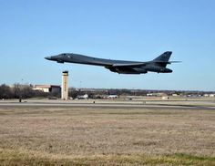 B-1 Getting out of Dodge....