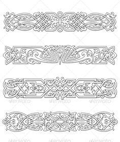 Retro Borders and Ornaments - Patterns Decorative