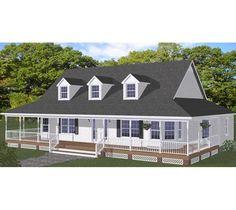 One story white farm house