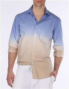 Club Fit - Dip Dyed Cotton Poplin Shirt