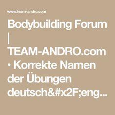 Bodybuilding Forum | TEAM-ANDRO.com • Korrekte Namen der Übungen deutsch/englisch : Allgemeine Trainingsfragen