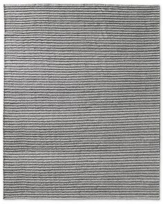 Ribbed Pinstripe Flatweave Rug - Grey