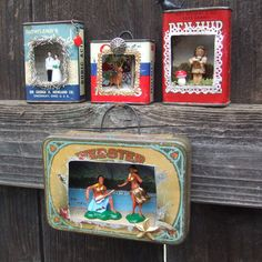@Pamela Culligan Culligan Cline @Karen Jacot Jacot Aquadro @Denise H. H. Knapp   tin dioramas