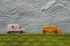 dense quilting - great sky and clouds - Angela Walters, you've done it again!