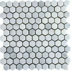 MS International Greecian White 12 in. x 10 mm Honed Marble Mesh-Mounted Mosaic Tile sq. / case) at The Home Depot - Mobile Travertine Floors, Honed Marble, Sloped Ceiling Bathroom, Shower Floor Tile, Marble Vanity Tops, New Wall, White Marble, Mosaic Tiles, Bath Ideas