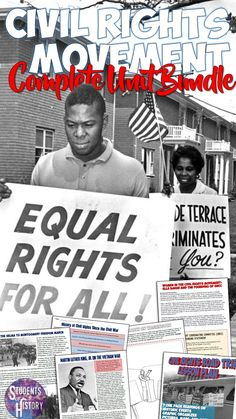 Engaging Civil Rights Movement Lesson Plans! W whole unit of engaging activities on Civil Rights for US History! Social Studies Classroom, History Classroom, Teaching Social Studies, Teaching American History, Teaching History, Teaching Tips, History Activities, Movement Activities, Middle School History