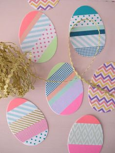 Osterdeko: Ostereier aus Pappe mit Masking Tape! #DIY