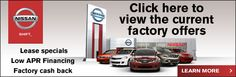 Find the latest factory offers available at Kline Nissan in Maplewood, MN here!  #Nissan #incentives #newcar #specials #offers