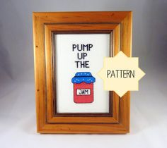 Cross Stitch Pattern Pump Up The Jam Cross Stitch by Quirkorium, $3.50