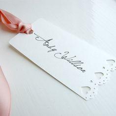 Vintage style name tag #wedding #nametag #invitation