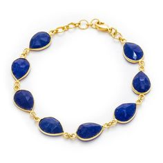 Handmade Gold-plated Brass Gemstone Bracelet https://sitaracollections.com/collections/bracelets-cuffs-and-bangles/products/gold-plated-brass-blue-chalcedony-bracelet