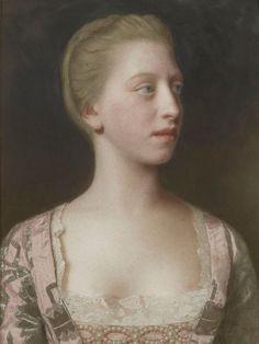 Portrait de Augusta Frederika de Grande Bretagne, 1754 Jean-Étienne Liotard