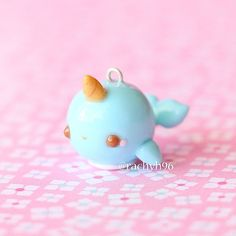 Hi everyone! Here is a kawaii narwhal charm from my latest remake tag ✨ Hope you like it! ✌ #polymerclay #polymer #clay #polymerclaycharms #cute #kawaii #narwhal #art #craft #handmade #sculpey #fimo #premo