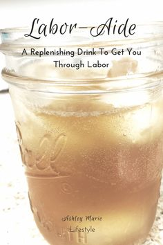 A labor aide drink to get you through the toughest workout of your life (having a baby) and replenish your body after delivery. Pregnancy Labor, Pregnancy Health, Ectopic Pregnancy, Natural Birth, Natural Baby, Natural Healing, Baby Time, Baby Hacks, Having A Baby
