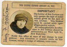 1920's New York City Drivers License