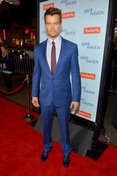 """Josh Duhamel at the Hollywood """"Safe Haven"""" premiere (February 5)."""