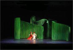 cloth hedges. Scenic design for Cossi fan Tutti by Cameron Anderson