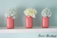 Painted Mason Jars... I want to do this sooo bad.