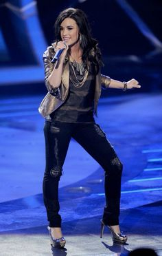 Demi Lovato on American Idol. March 24th, 2010