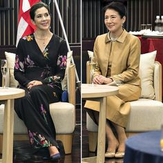 12 October 2017 - Royal tour to Japan (day 5): reception at Gajoen Hotel, Tokyo - suit by Etro, shoes by Gianvito Rossi, clutch by Prada