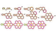 PATTERN bead snowflake bracelet .. beaded items, beading, beadwork