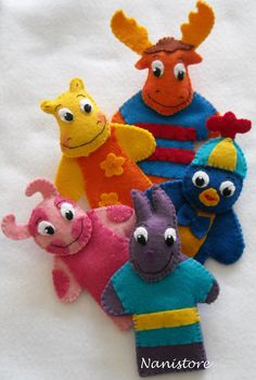 Backyardigans Felt Finger Puppets FREE by Makesomeonesmiles, $35.00