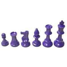 Marion's Value Unweighted Purple Colored Chess Pieces - 3 King - Purple