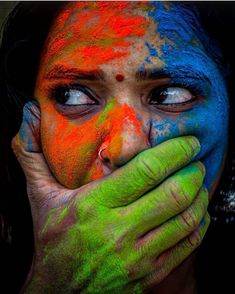 Holi Pictures, Girly Pictures, Holi Girls, Holi Colors, Colours, Photos Of Eyes, Classic Girl, Happy Holi, South Actress
