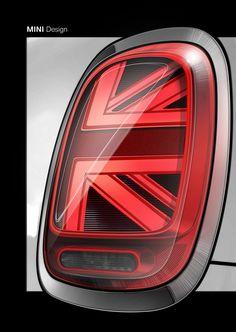 The new MINI 3 door, the new MINI 5 door, the new MINI Convertible. Sketch MINI Design. Tail Light (01/2018)