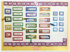 Boberkowy World : Starter nauczyciela przedszkola: Kalendarz / kalendarz pogody- pliki do wydruku Circle Time, Periodic Table, Periotic Table